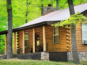 Cabin Exterior at Hidden Hollow Cabins