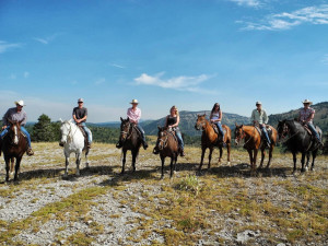 Horseback riding at Grand Targhee Resort.