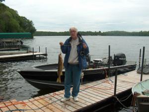 Fishing at East Silent Lake Homes.