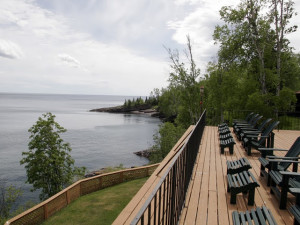 Deck view at Chateau LeVeaux.