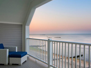 Private balcony at Water's Edge Resort.