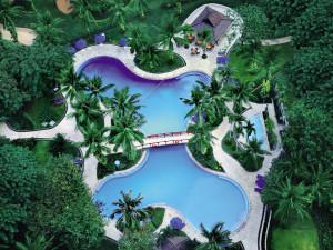 Outdoor pool at Shangri-La Hotel-Jakarta.