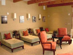 Spa lounge at Teton Springs Lodge.
