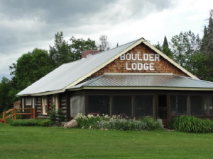 Exterior view of Boulder Lodge.
