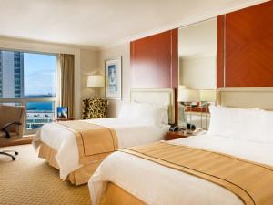 Guest room at San Diego Marriott Gaslamp Quarter.