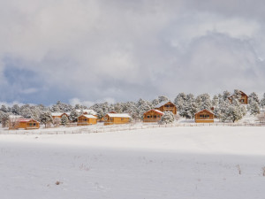 Winter time at Zion Mountain Ranch.