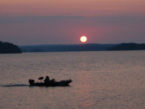 Lake fishing at Remember When Cabins.