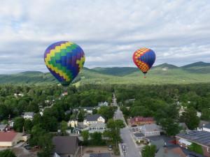 Balloon ride near Eastern Slope Inn Resort.
