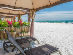Beach cabana at Holiday Inn Resort Panama City Beach.
