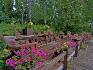 Deck at Ludlow's Island Resort.
