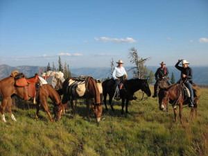 Trail riding at Silver Spur Outfitters.