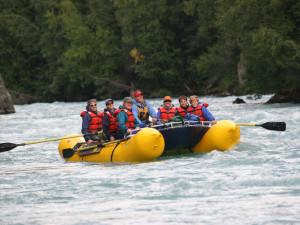Rafting at Kenai Riverside Lodge.