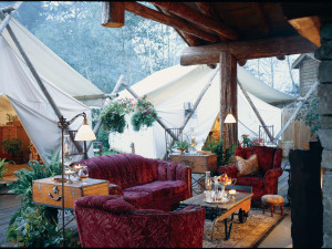 Lounge area at Clayoquot Wilderness Resort.