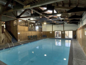 Indoor pool at Mountainside Resort.