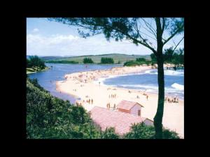 The beach at Zinkwazi Holiday Resort.