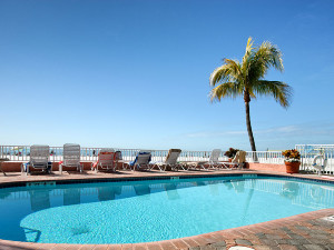 Outdoor pool at Edison Beach House.