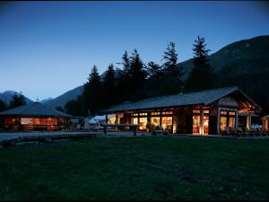Resort view at Clayoquot Wilderness Resort.