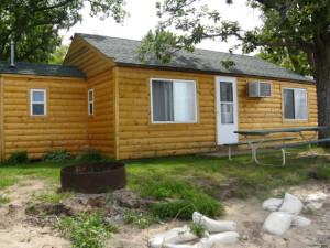 Cabin exterior at Wild Walleye Resort.