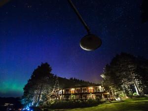 Night sky at Sojourn Lakeside Resort.
