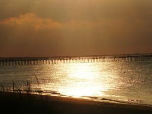 Sunset at Virginia Beach Resort Hotel.