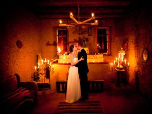 Wedding at Hacienda Vargas Bed and Breakfast.
