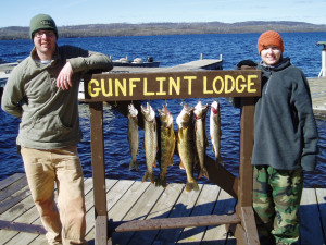 Fishing at Gunflint Lodge.