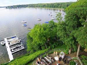 Wedding by the lake at The Geneva Inn.