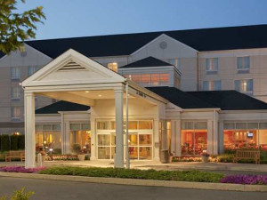 Entrance to the Hilton Garden Inn Wilkes-Barre