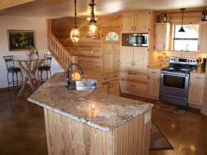 Rental kitchen at SkyRun Vacation Rentals - Texas Hill Country.