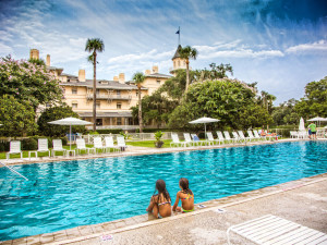Outdoor pool at Jekyll Island Club Hotel.