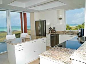 Vacation rental kitchen at Resort Rentals.