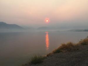 Lake view at Mountain View Lodge.