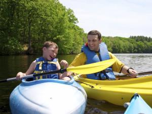 Kayaking at The Quarters at Lake George.