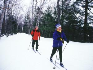 Cross country skiing near Weathervane Inn.