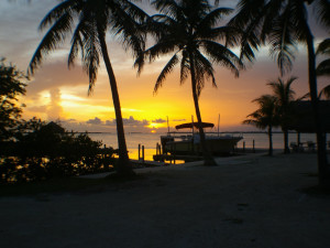 Sunrise at Rock Reef Resort.