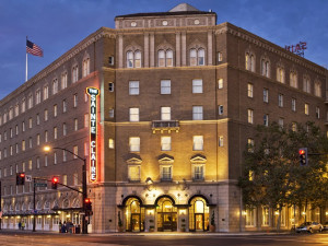 Exterior view of The Sainte Claire, a Larkspur Collection Hotel.