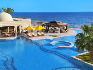 Outdoor pool at The Oberoi Sahl Hasheesh.