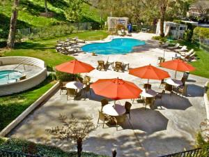 Outdoor pool at Pala Mesa Resort.