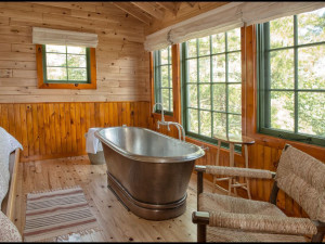 Cottage bedroom at The Lodge at Pine Cove.
