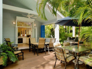 Vacation rental patio at Key West Hideaways.