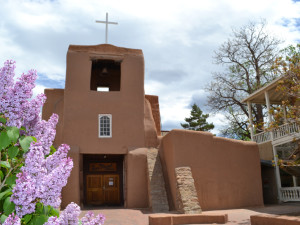 San Miguel Mission Chapel - Oldest Church Exterior near Hotel St. Francis.
