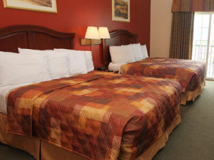 Guest room at Dollywood Cabins.