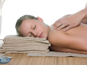 Back massage at Calistoga Spa.