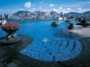 Outdoor pool at Harbour Plaza Hong Kong.