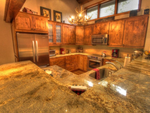 Vacation rental kitchen at SkyRun Vacation Rentals - Beaver Creek.