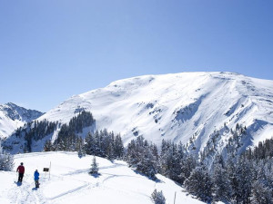 Skiing at Edelweiss Lodge.