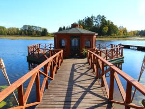 Dock view at Zippel Bay Resort.