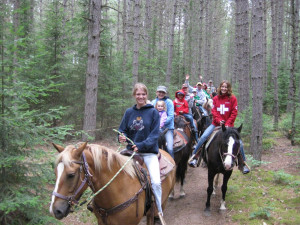 Trail ride at Holiday Acres Resort.