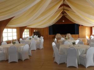 Wedding setup at Fair Hills Resort.