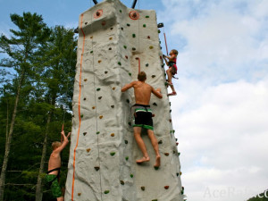 Rock climbing wall at ACE Adventure Resort.